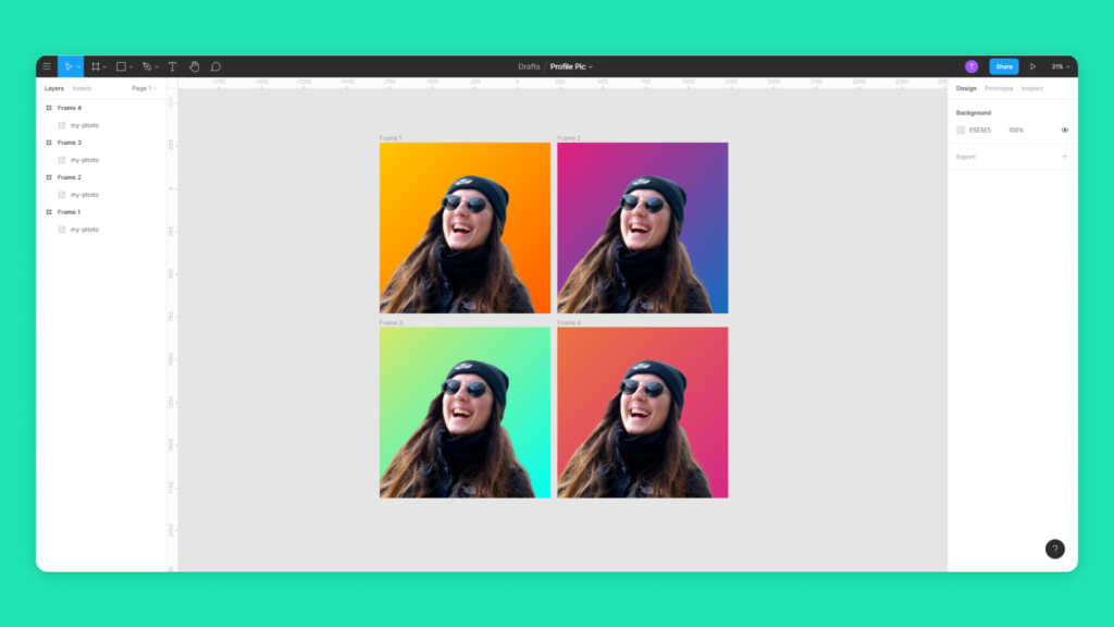6 - profile picture stand out figma background gradients - monthly start